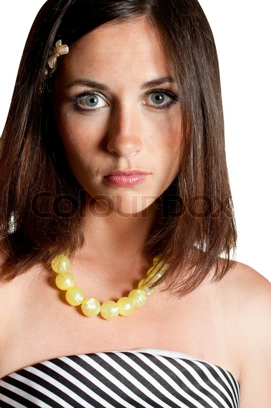 Portrait Of Beautiful Young Woman With Stock Photo
