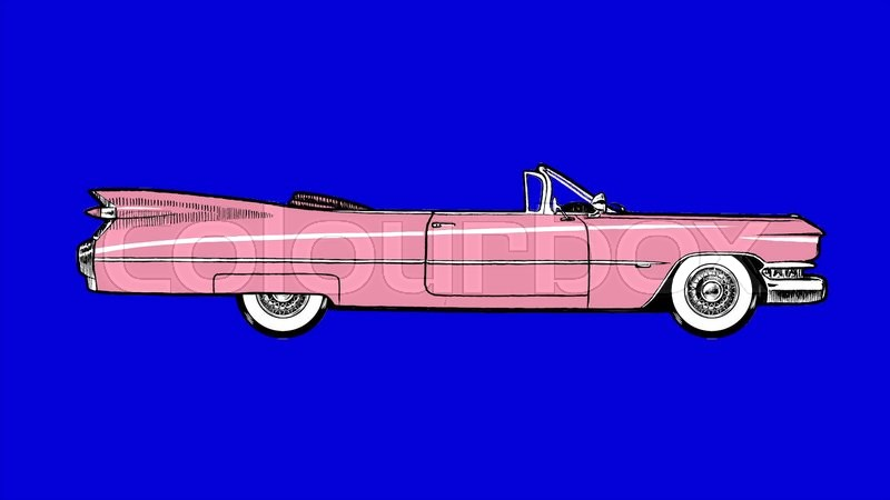 Authentic Elvis 1959 Pink Cadillac Convertible Motion Graphic