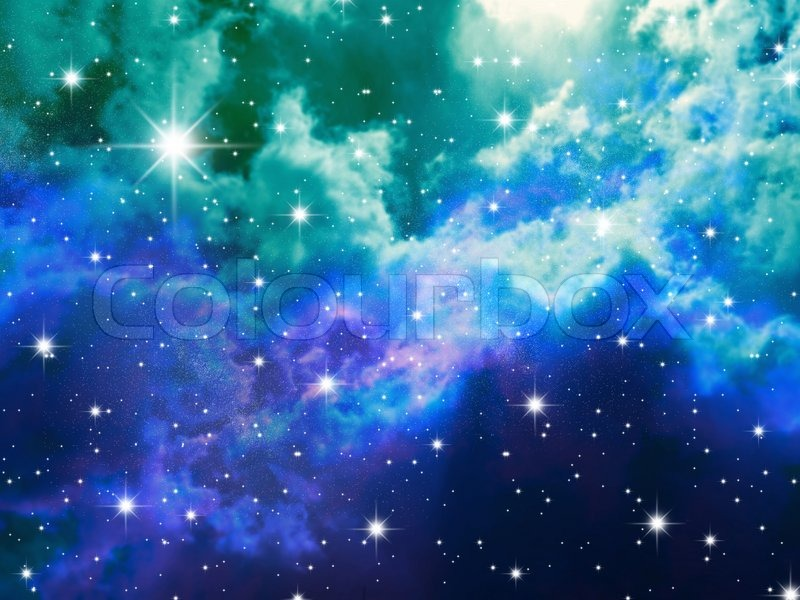 The Night Sky In Stars And Blue Stock Photo Colourbox