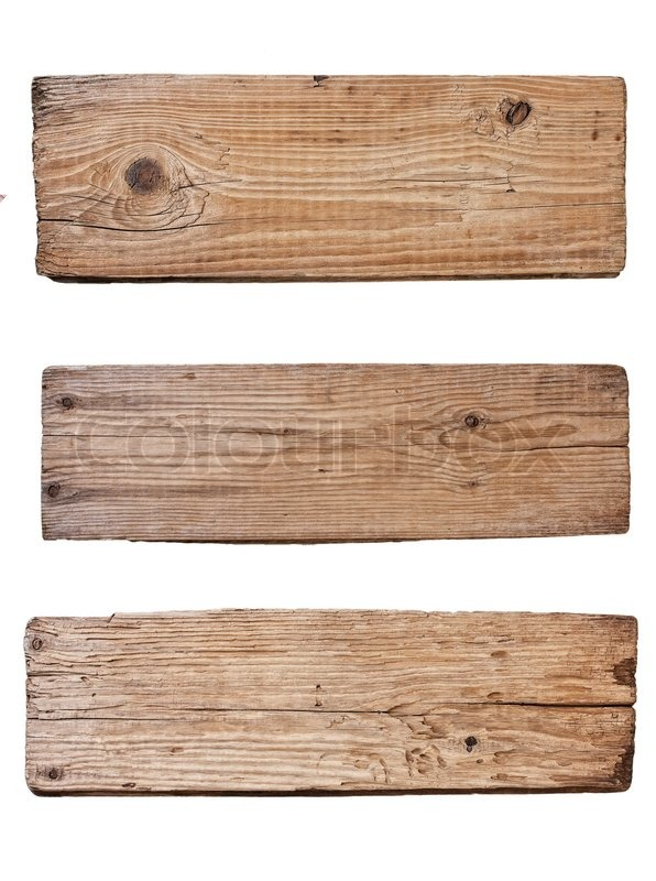 Old plank of wood isolated on white background stock