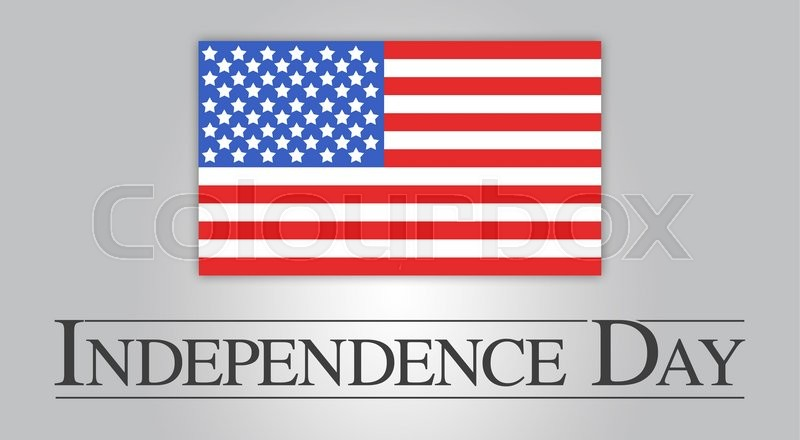 American Flag To Celebrate Independence Day On July 4th Stock