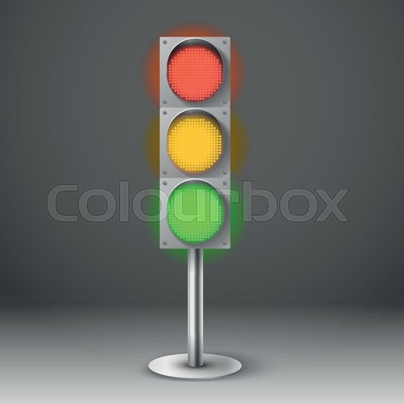 Traffic light vector illustration red yellow and green diod traffic stock vector of traffic light vector illustration red yellow and green diod traffic light maxwellsz