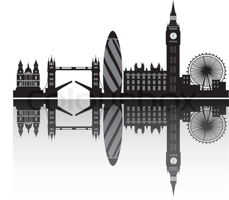 Line Drawing Tattoo London : London skyline stock vector colourbox
