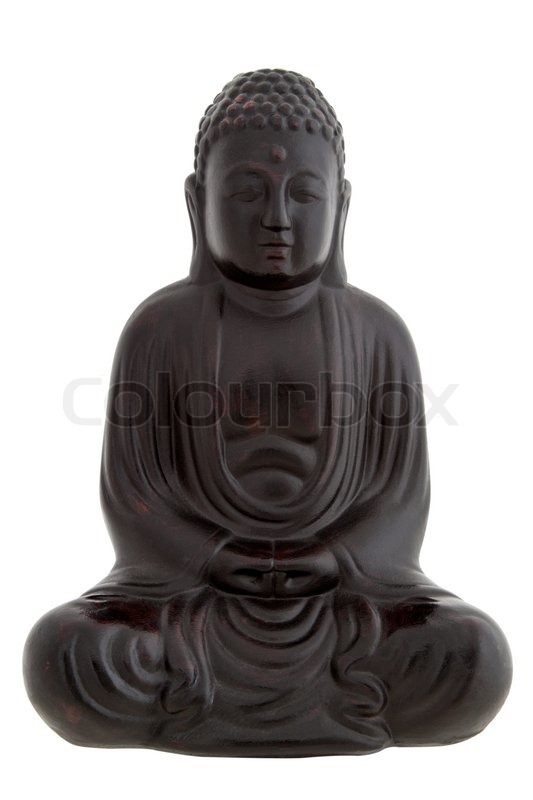 black buddha figur isoliert auf wei stockfoto colourbox. Black Bedroom Furniture Sets. Home Design Ideas