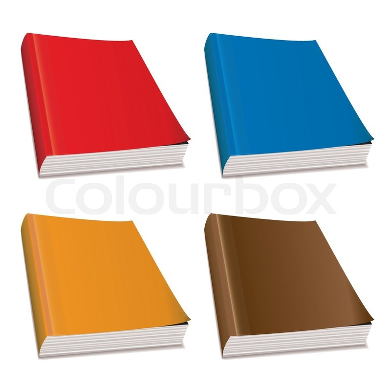 Hardback Book Paper Cover ~ Collection of four hardback paper books with bright covers
