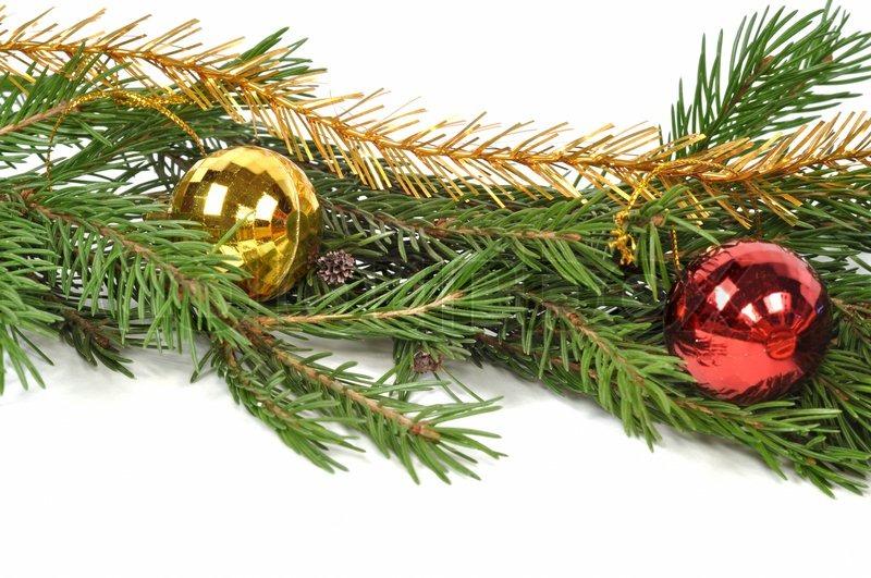 weihnachten gr ne grenze isoliert auf wei em hintergrund stockfoto colourbox. Black Bedroom Furniture Sets. Home Design Ideas