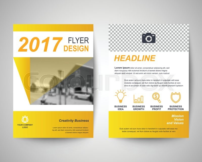 gold abstract flyer layout template brochure background leaflet with cover vector design in a4 size for business annual report stock vector colourbox
