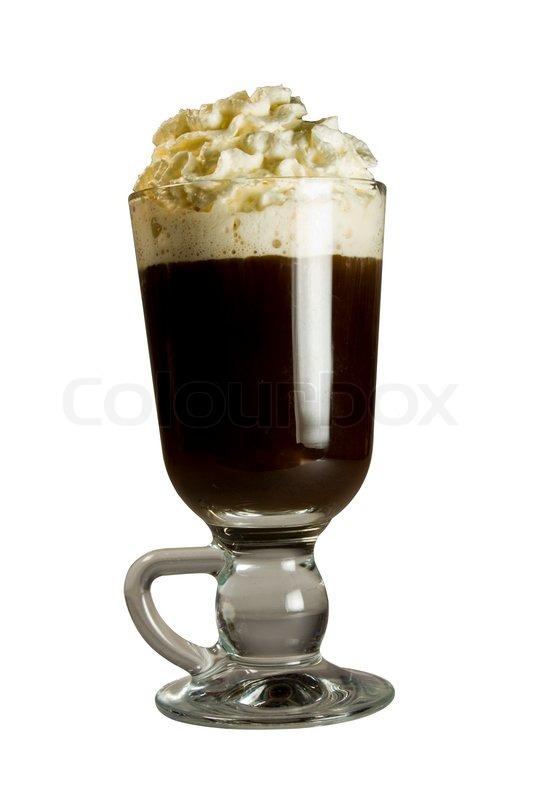 Utroligt En varm irsk kaffe toppet med wipped | Stock foto | Colourbox UJ68