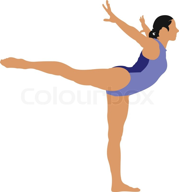 Woman Gymnastic Vector Illustration Stock Vector