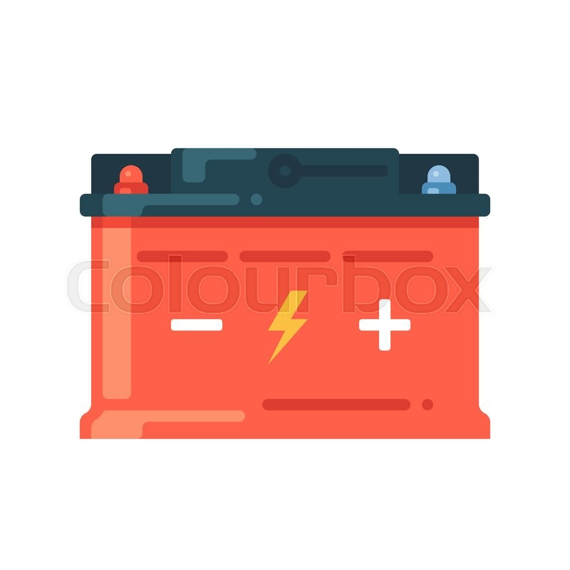 Car Battery Icon Accumulator Symbol Stock Vector Colourbox