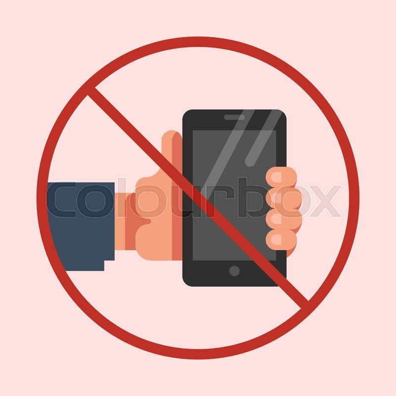 Do Not Use Mobile Phone Sign No Mobile Phone Icon No Cell Phone