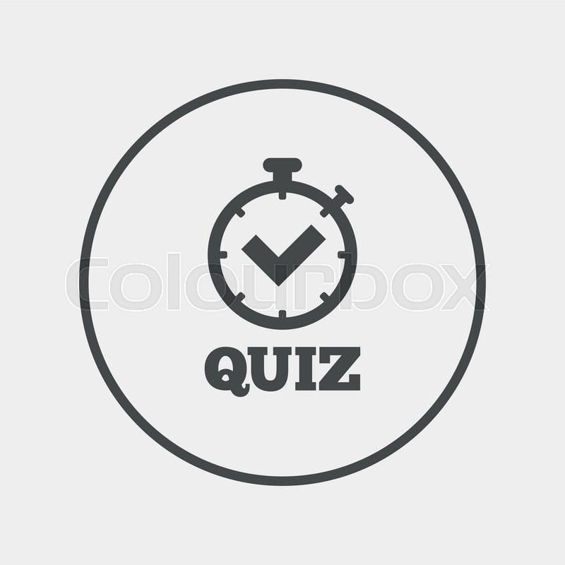 Quiz Sign Icon Questions And Answers Game Flat Quiz Timer Icon