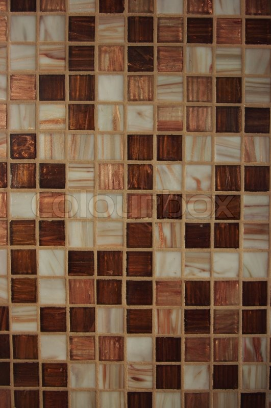 Texture Of Brown Kitchen Tile
