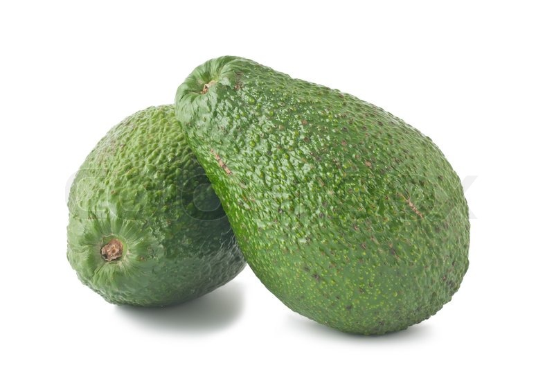 1985760 789628 two ripe avocados isolated on white background