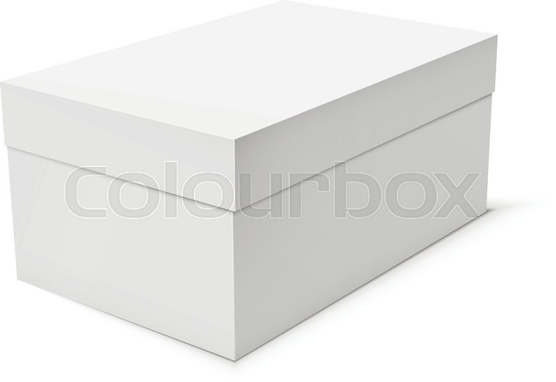 Blank paper or cardboard box template on white background. Vector ...