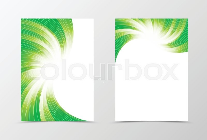 flyer template swirl design abstract flyer template in green colors