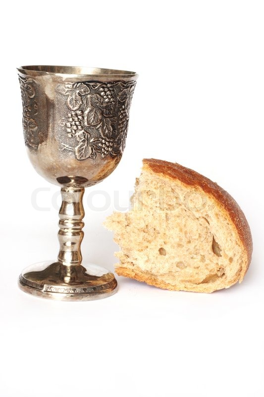 Wine And Bread For Holy Communion Stock Photo Colourbox