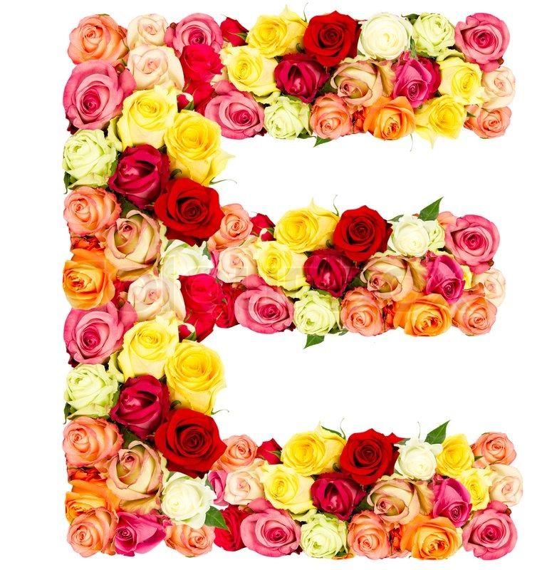 S Alphabet In Rose E, roses flower...