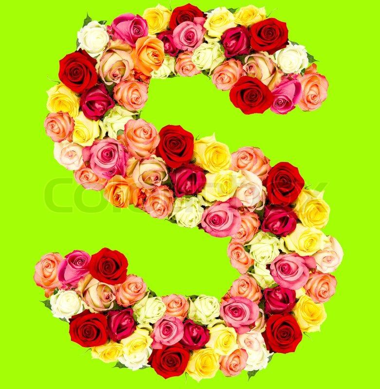 S Alphabet In Rose S, roses flower...
