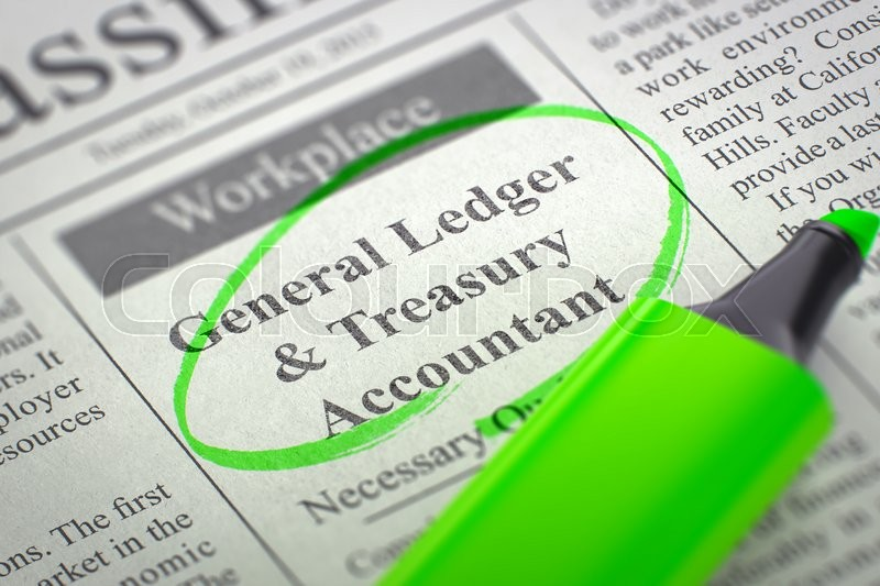 newspaper with jobs section vacancy general ledger treasury