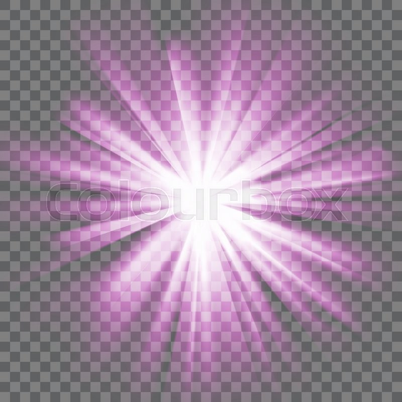 Purple Glowing Light Bright Shining Star Bursting Explosion Transparent Background Rays Of Glaring Effect With Transparency