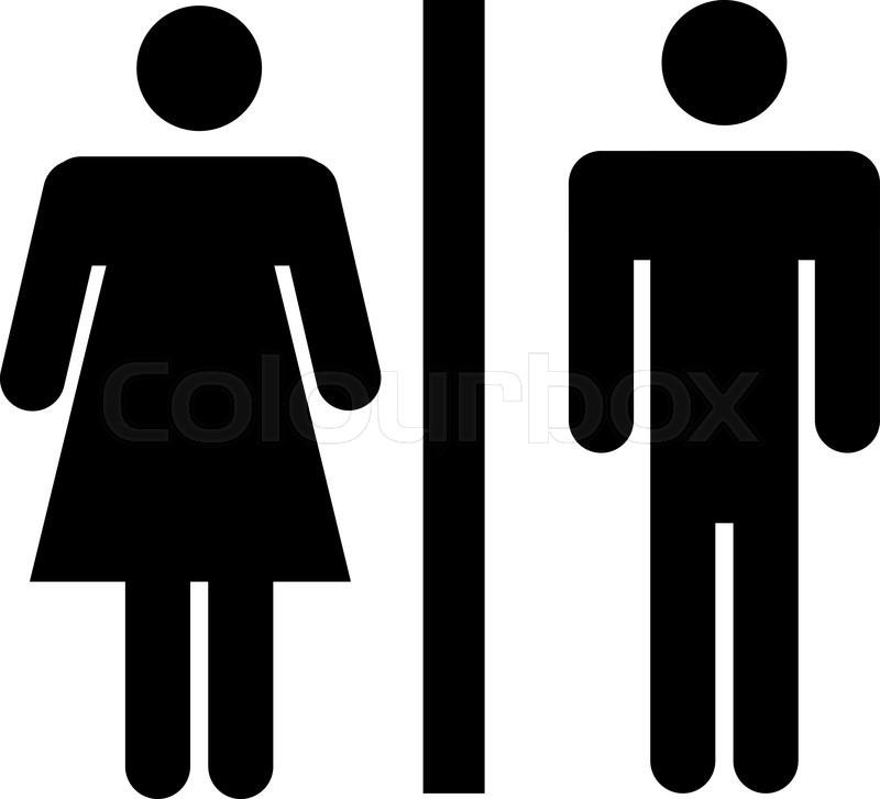 Toilet wc skilt | Stock vektor | Colourbox