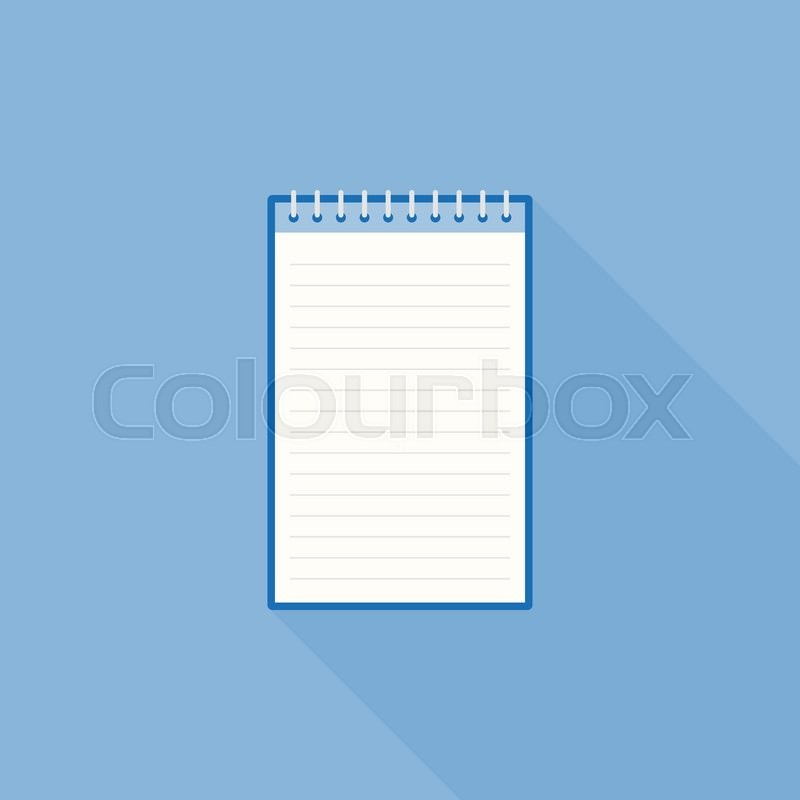 blank line notebook paper icon template flat design stock vector