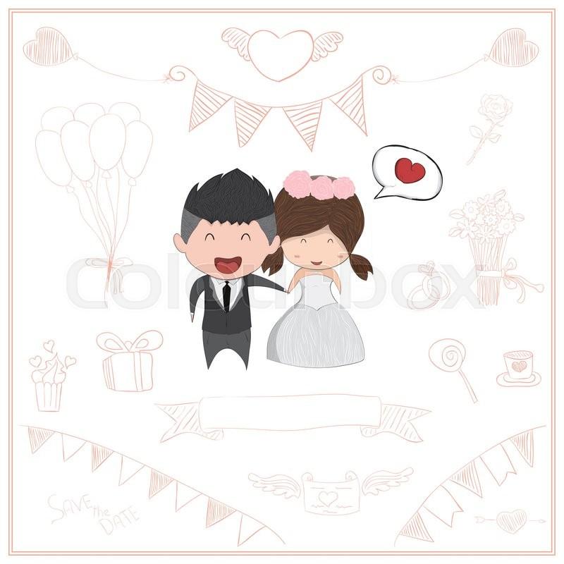 cute cartoon wedding couple men and women card cute valentine s day