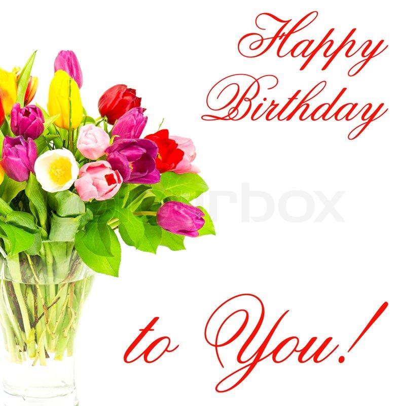 Happy birthday to you card concept stock photo colourbox