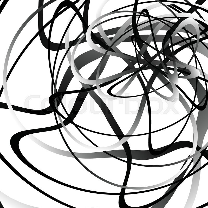 abstract squiggle squiggly curvy lines monochrome geometric
