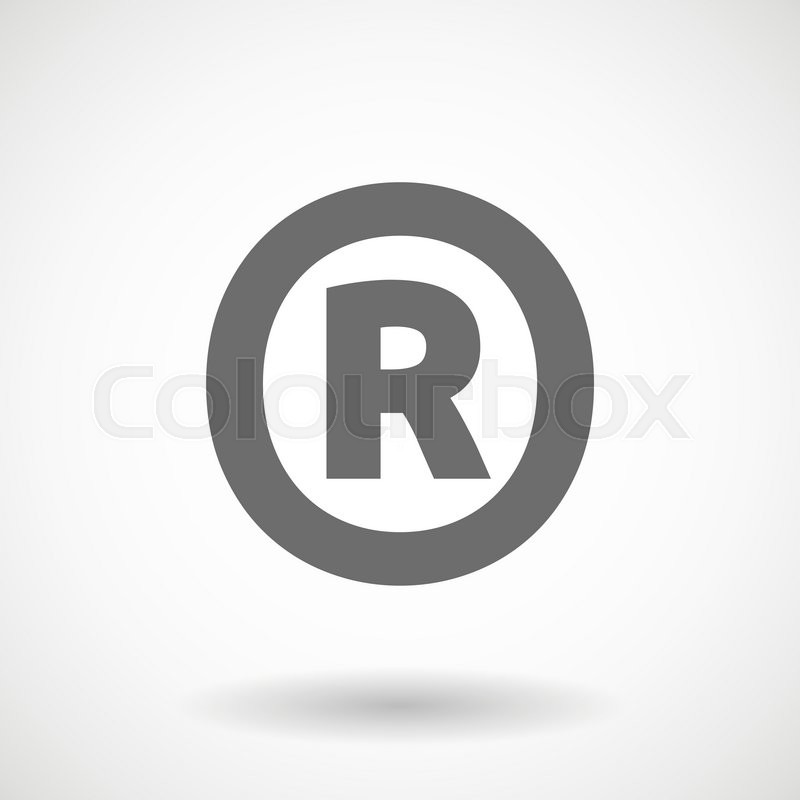 Isolated Vector Illustration Of The Registered Trademark Symbol