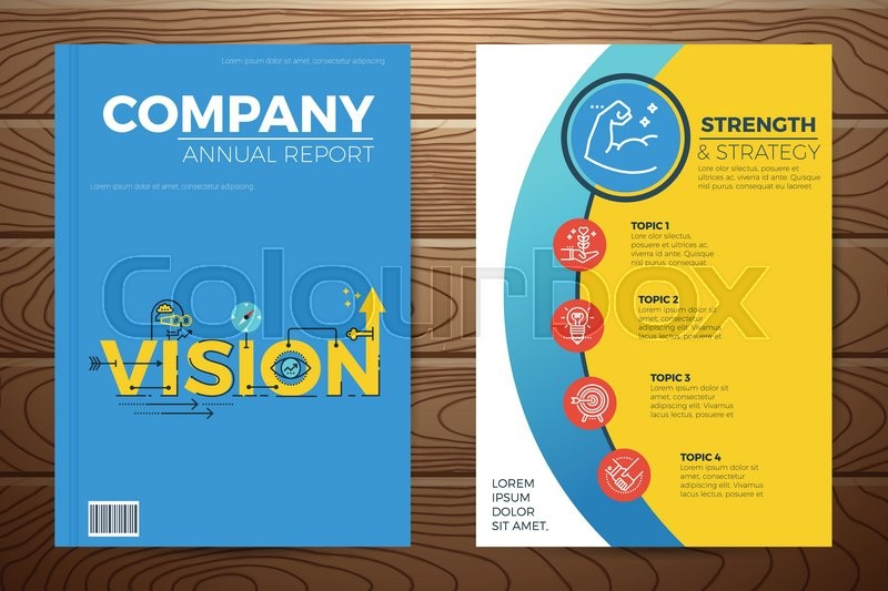 Book Cover Design Elements : Business vision book cover and flyer a template layout