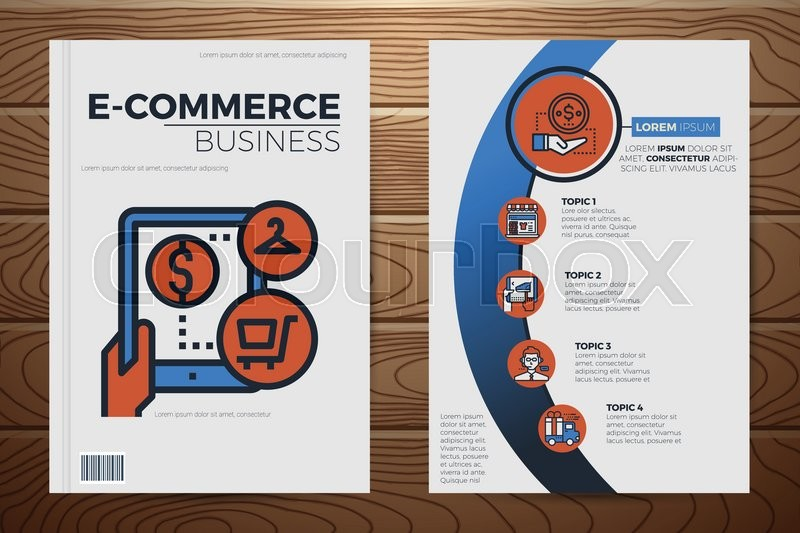 Extrêmement E-commerce business book cover and flyer a4 template layout with  SM32