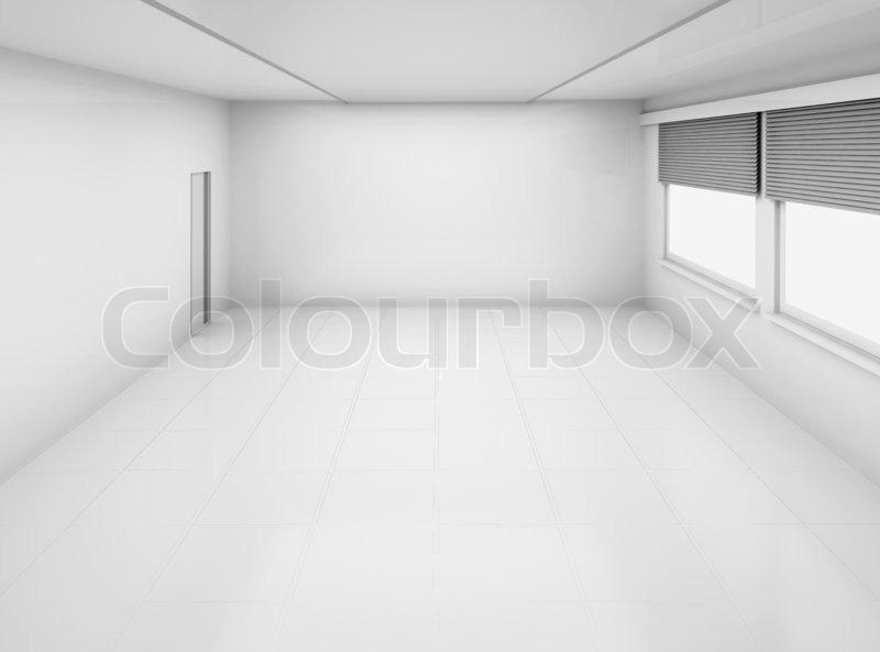Empty room with windows and door | Stock Photo | Colourbox