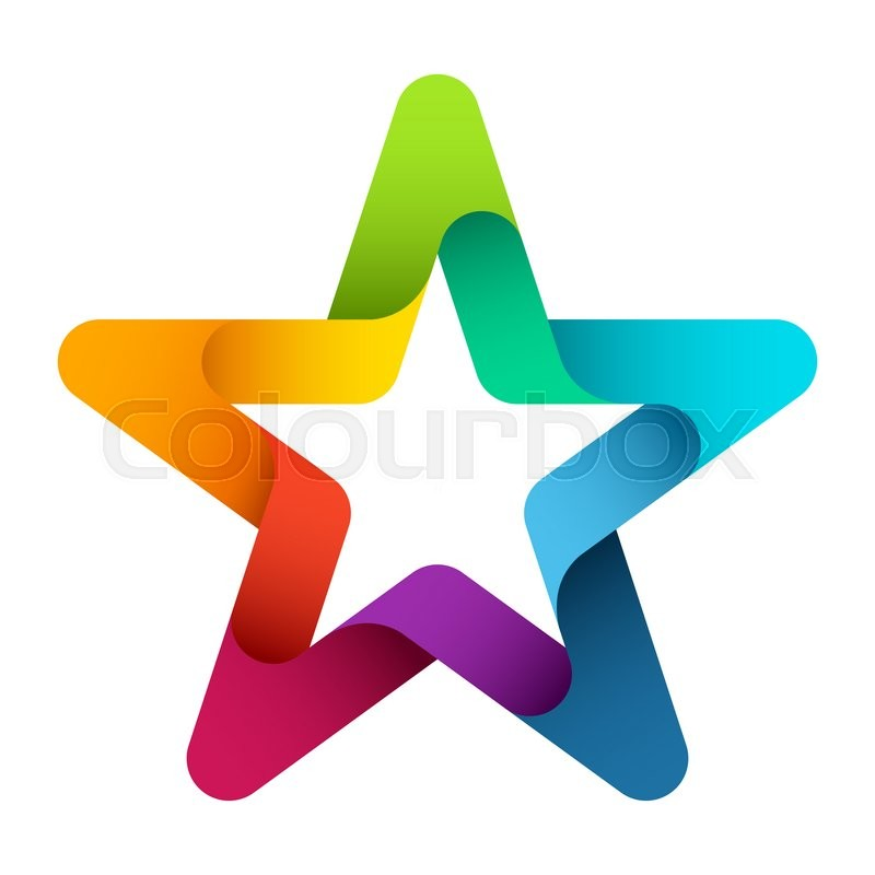Circle Arrows Color Star Symbol