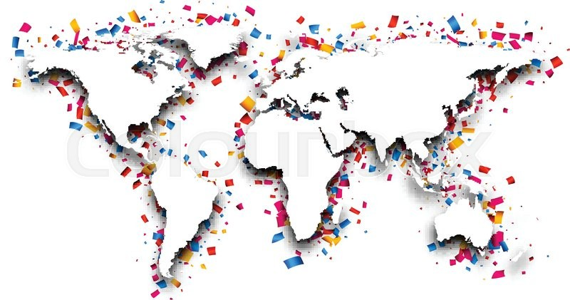 3d world map with colour confetti vector paper illustration 3d world map with colour confetti vector paper illustration vector gumiabroncs Gallery