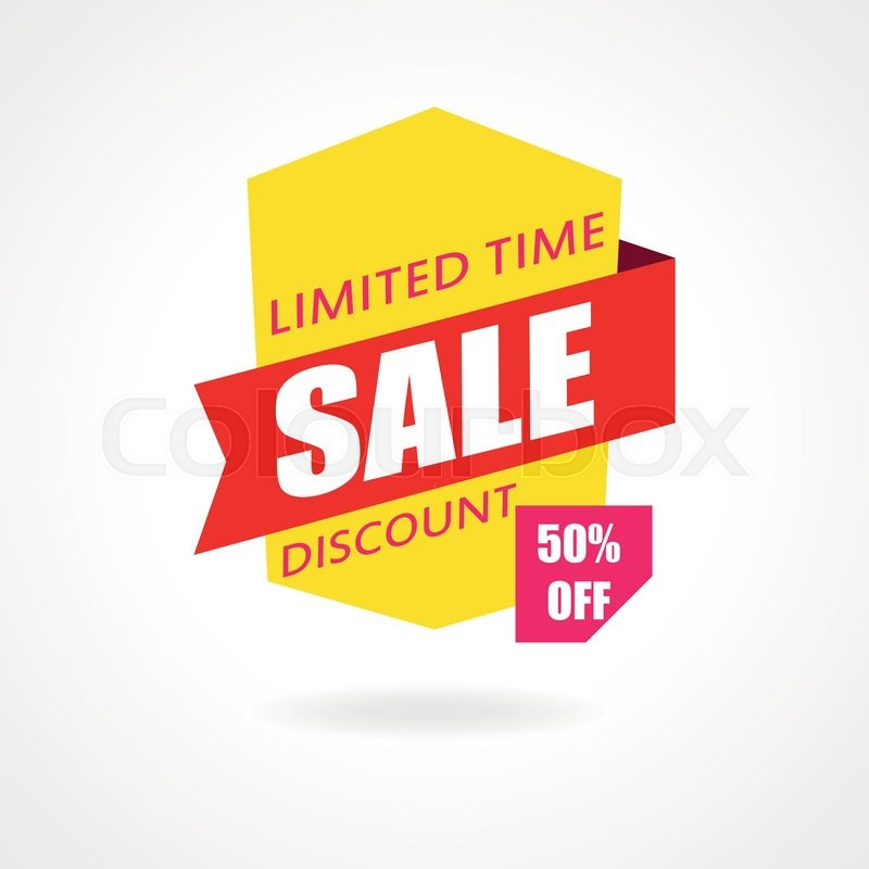 Sale banner. Discount and special offer. 50 percentoff ...