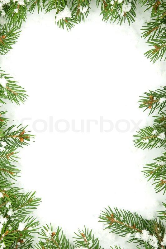 weihnachten rahmen mit schnee isoliert auf wei em. Black Bedroom Furniture Sets. Home Design Ideas