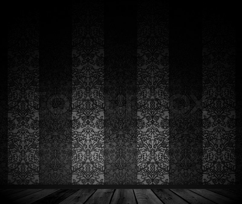 Terrific Dark Empty Room With Vintage Wallpaper Stock Photo Colourbox Largest Home Design Picture Inspirations Pitcheantrous