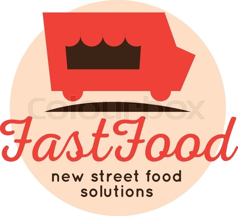 Vector Cartoon Fast Food Truck Logo Stock Vector Colourbox