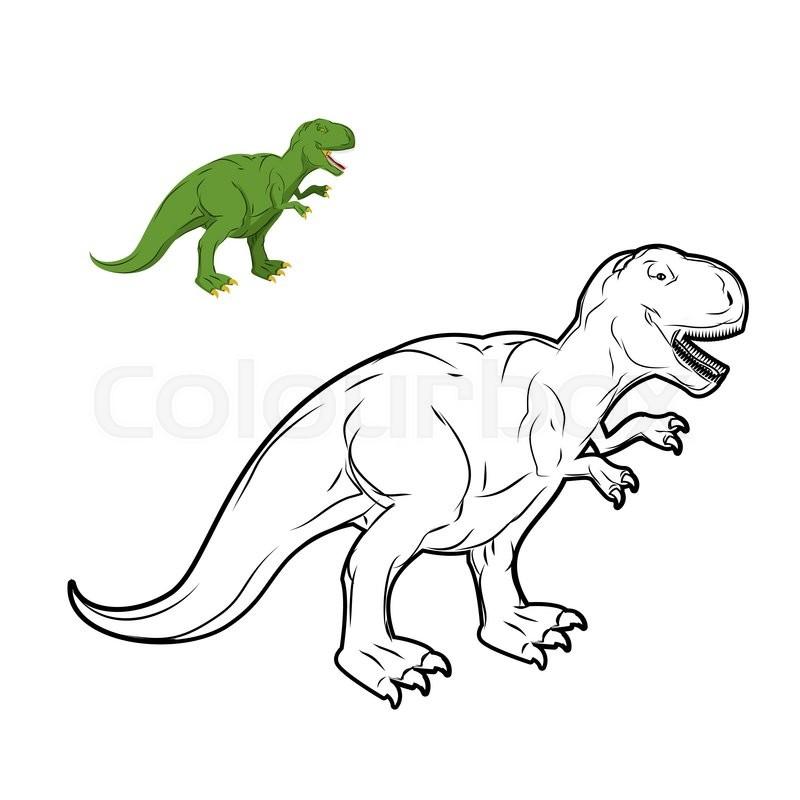 Stock Vector Of Tyrannosaurus Rex Dinosaur Coloring Book Prehistoric Reptile Linear Style Ancient