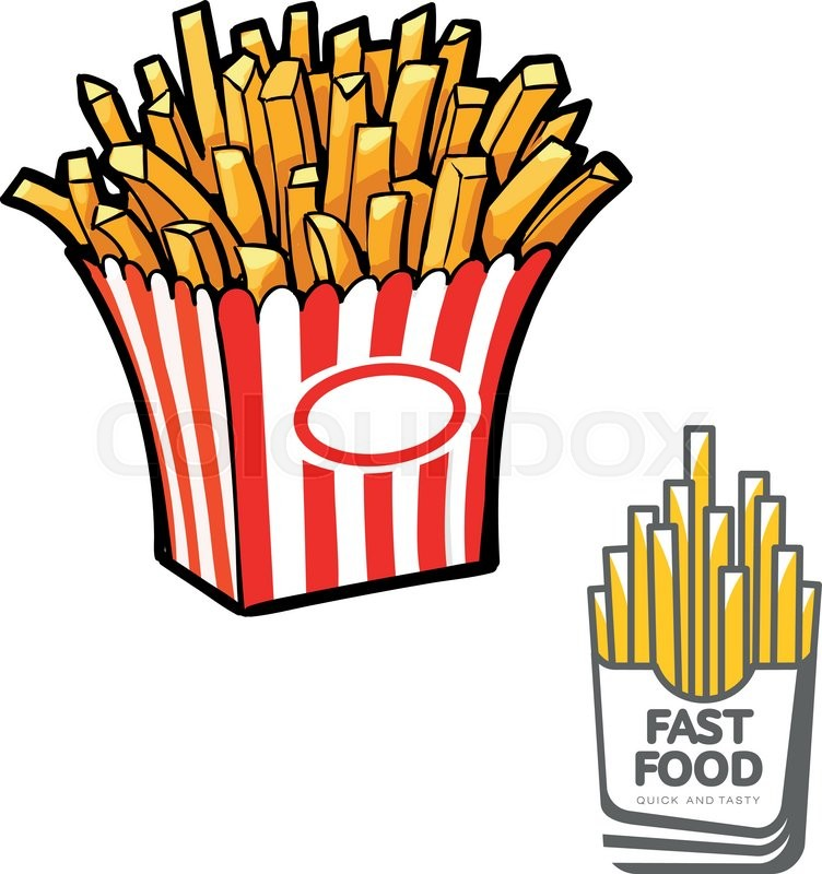 french fries in paper pack  vector illustration sketch french fry clip art free french fry clipart free