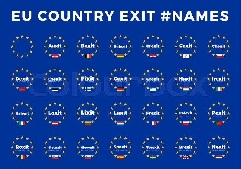 Names For Eu Exits For All Members Europe Union Country
