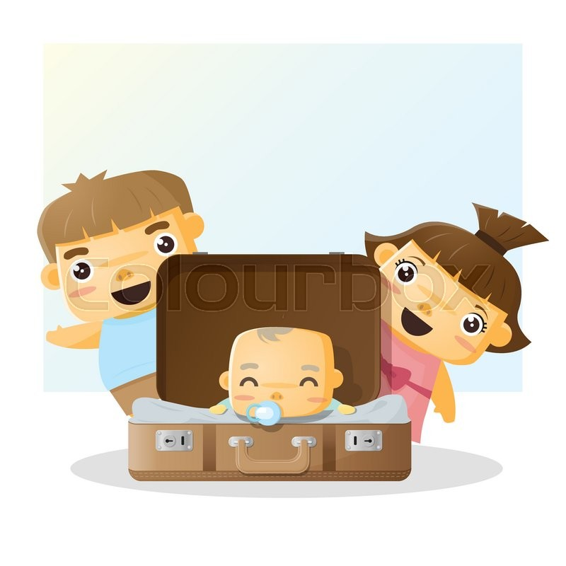 Cute Family Portrait Happy Family Stock Vector Colourbox