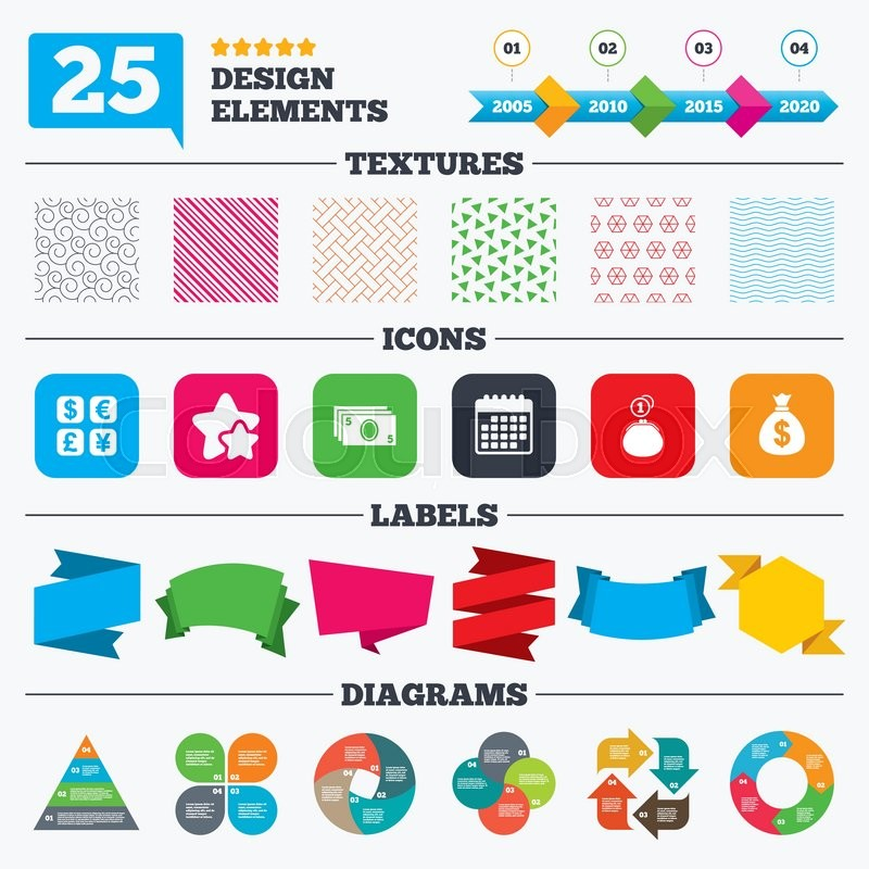 Offer Sale Tags Textures And Charts Currency Exchange Icon Cash