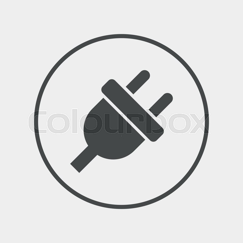 Electric plug sign icon. Power energy symbol. Flat electricity icon ...