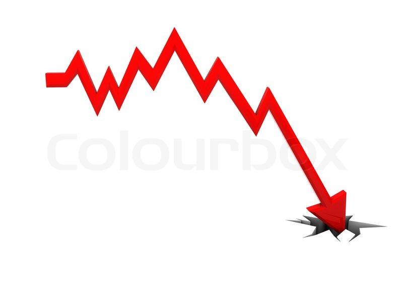 3d darstellung der fallenden diagramm mit loch im boden stockfoto colourbox. Black Bedroom Furniture Sets. Home Design Ideas