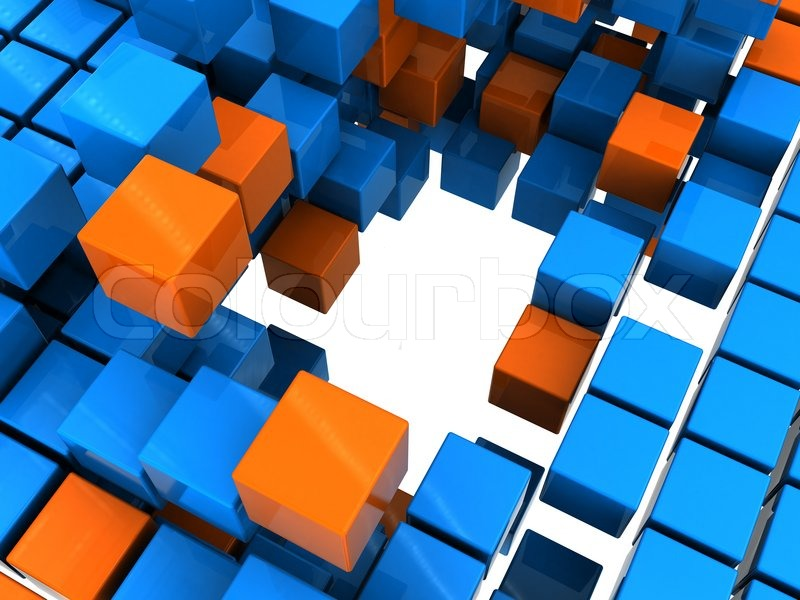 Abstract 3d illustration of orange and blue boxes background stock abstract 3d illustration of orange and blue boxes background stock photo colourbox altavistaventures Images