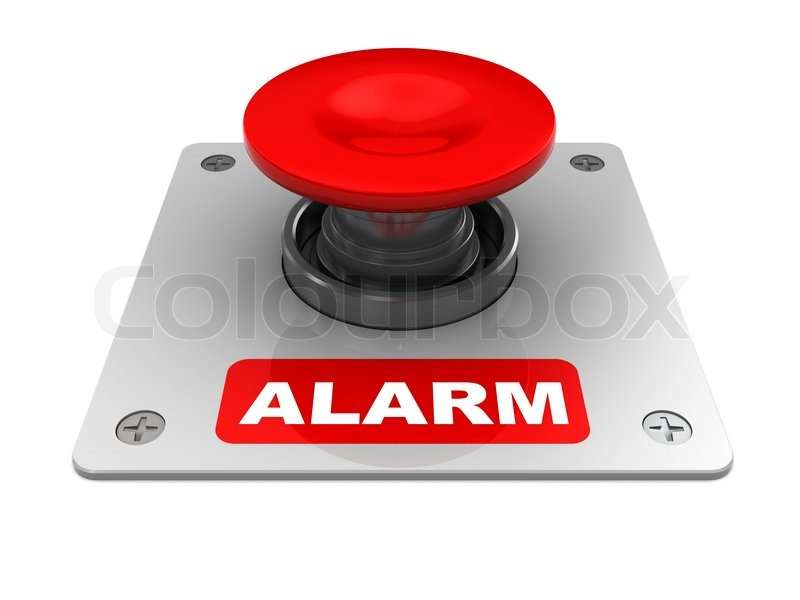 Amazing 3d Illustration Of Red Button With U0027alarmu0027 Caption, Stock Photo