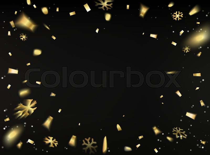 happy new year card template over black background with golden sparks happy new year 2017 template for your design vector illustration